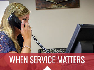 When Service Matters